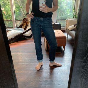 Hudson Bacara Crop Straight Cuffed Jeans Size 28